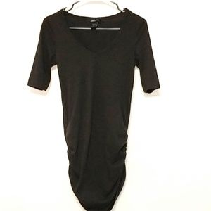 Moda international black t shirt dress (432)